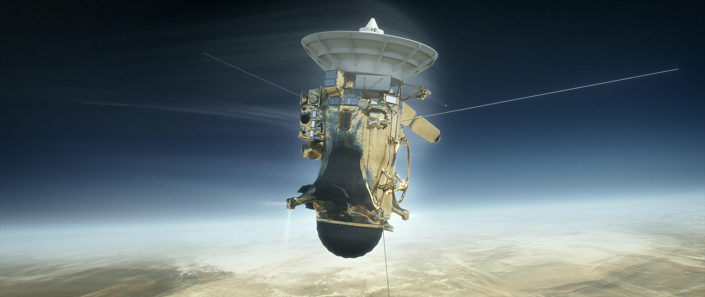 Space Images   Cassini versus Saturn (Illustration)