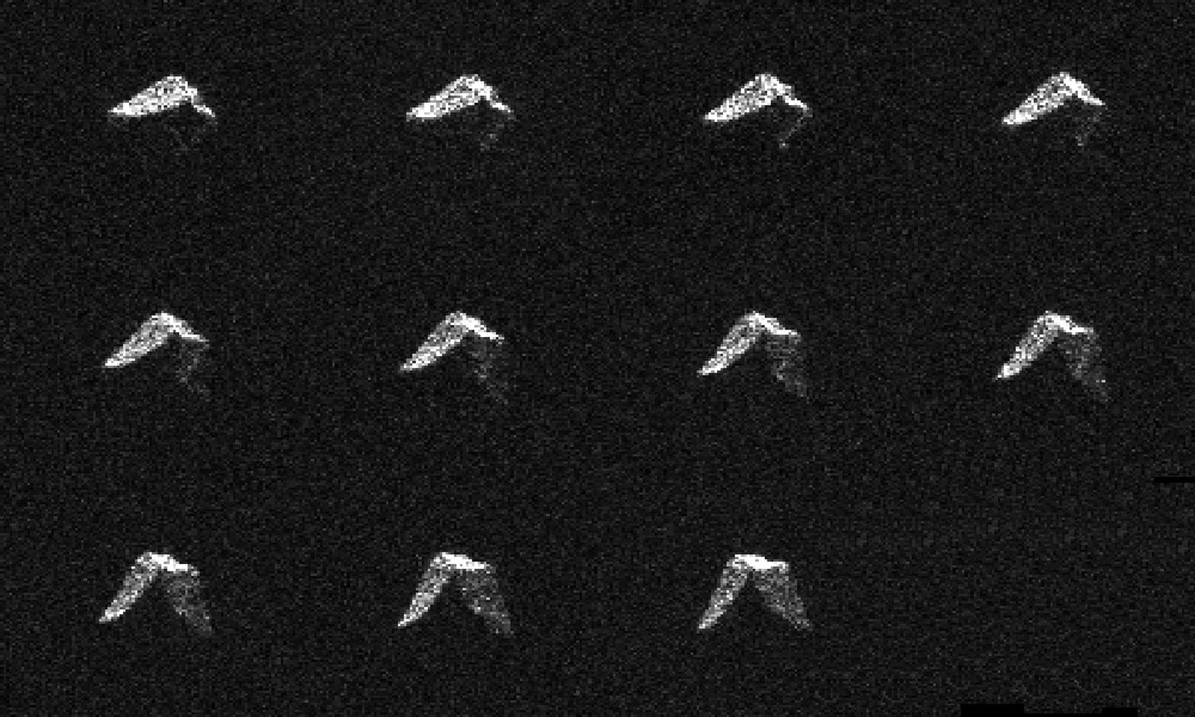 This composite of 11 images of asteroid 2017 BQ6 was generated with radar data collected using NASA's Goldstone Solar System Radar in California's Mojave Desert on Feb. 5, 2017.