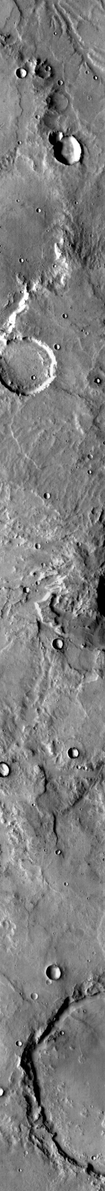 NASA's 2001 Mars Odyssey spacecraft spies what looks like a little beetle at the top of this image.
