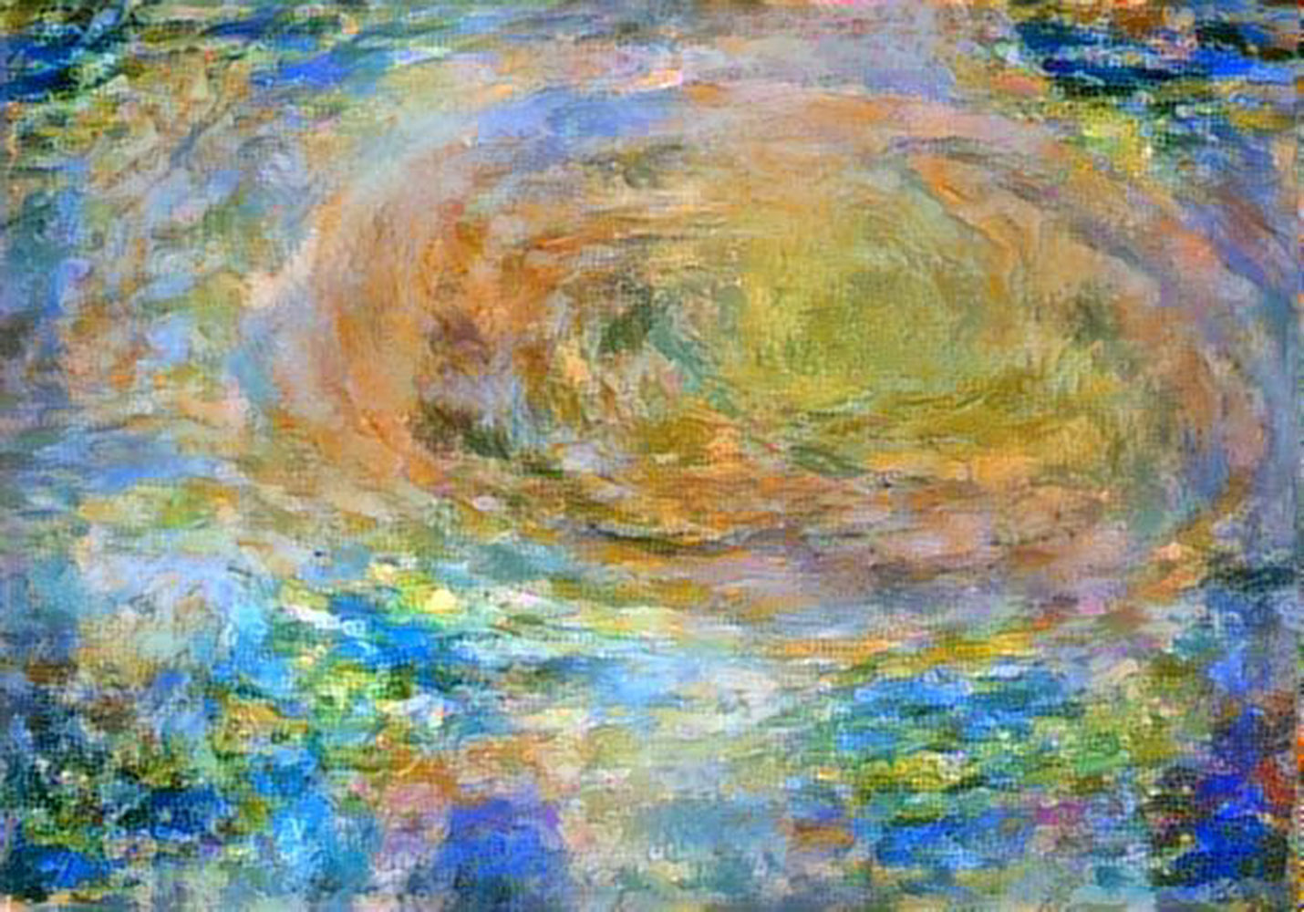 Citizen scientist David Englund created this avant-garde Jovian artwork using data from the JunoCam imager on NASA's Juno spacecraft.