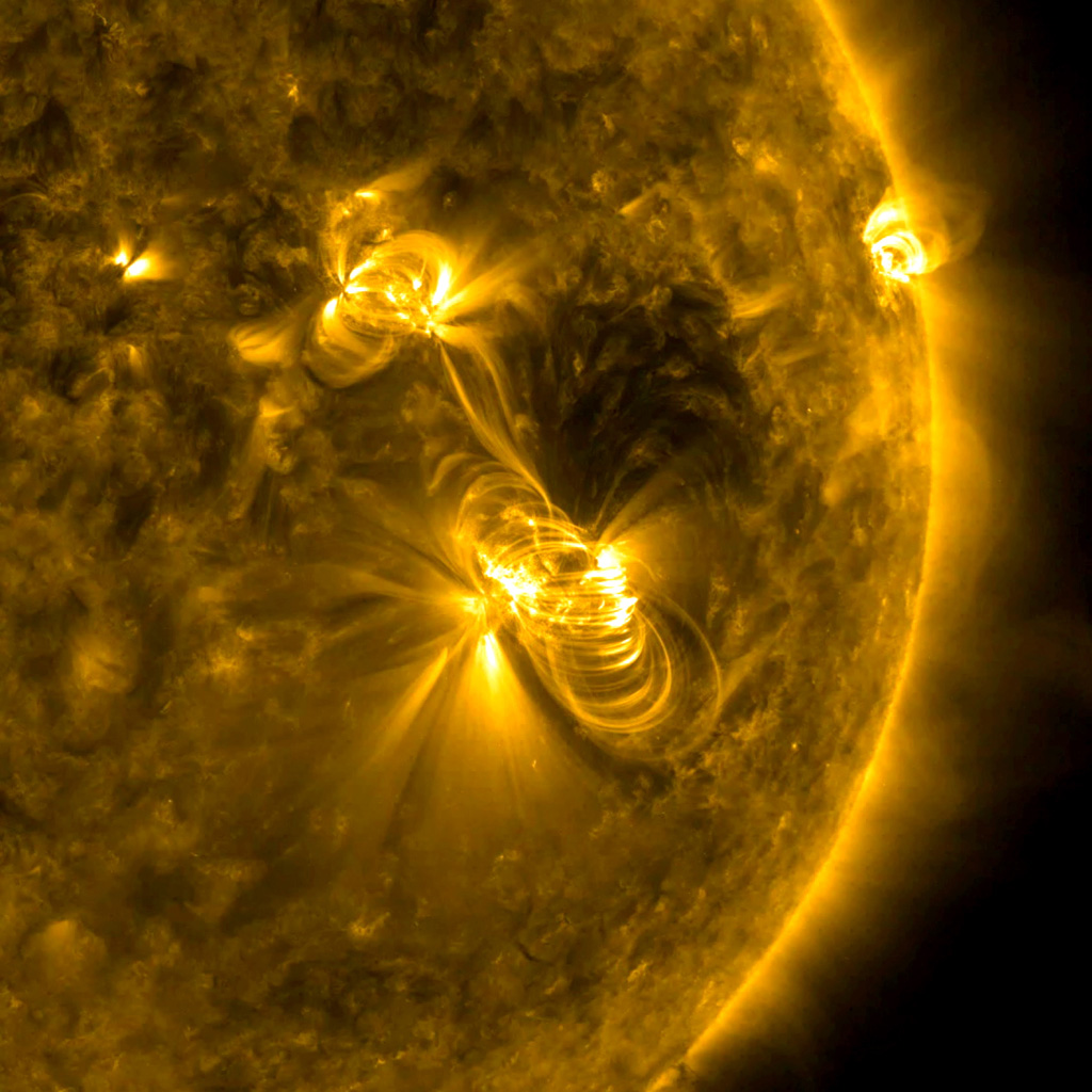 NASA's Solar Dynamics Observatory observed a medium-sized flare, lasting almost two hours, and a coronal mass ejection erupting from the same, large active region on July 14, 2017.