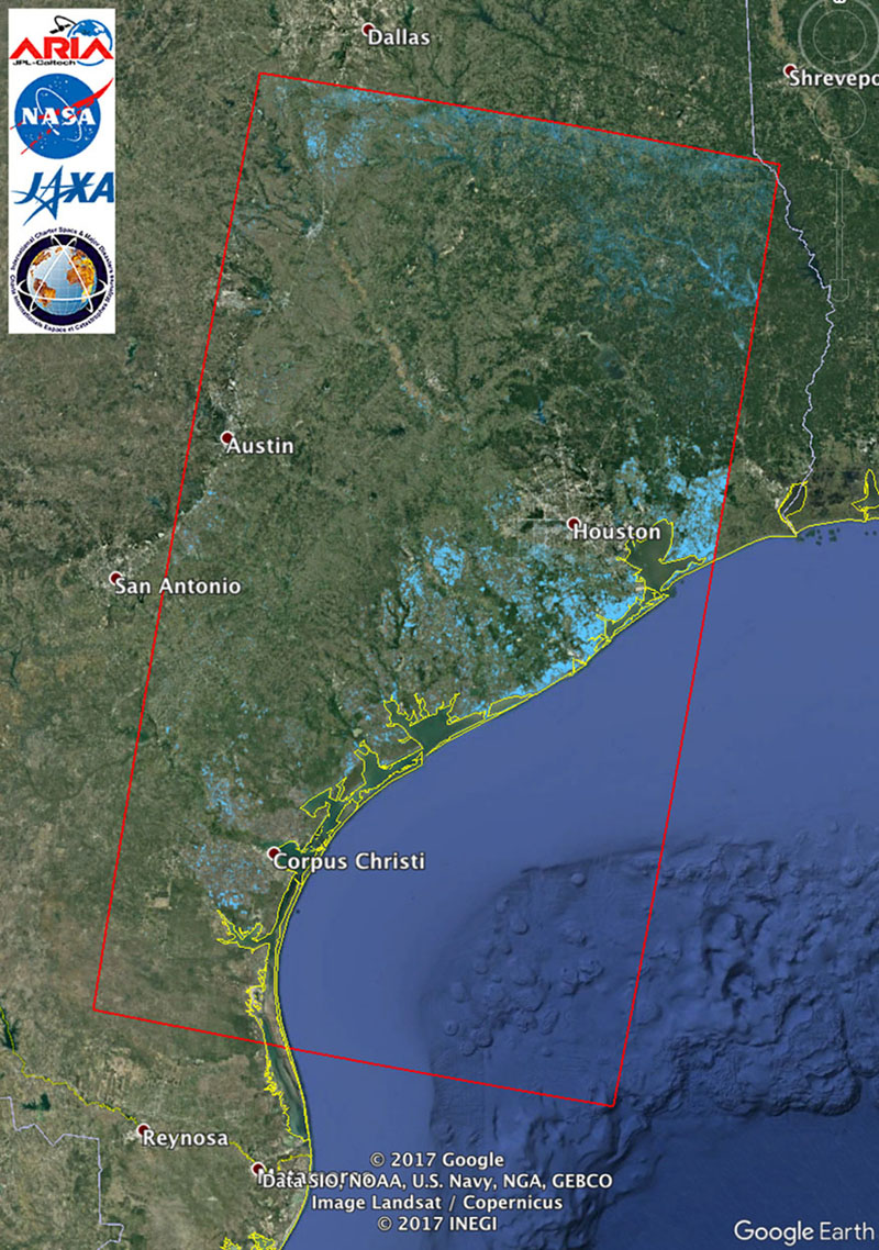Nasa Jpl S Aria Team Created This Flood Proxy Map Depticting Areas Of Southeastern Texas That Are