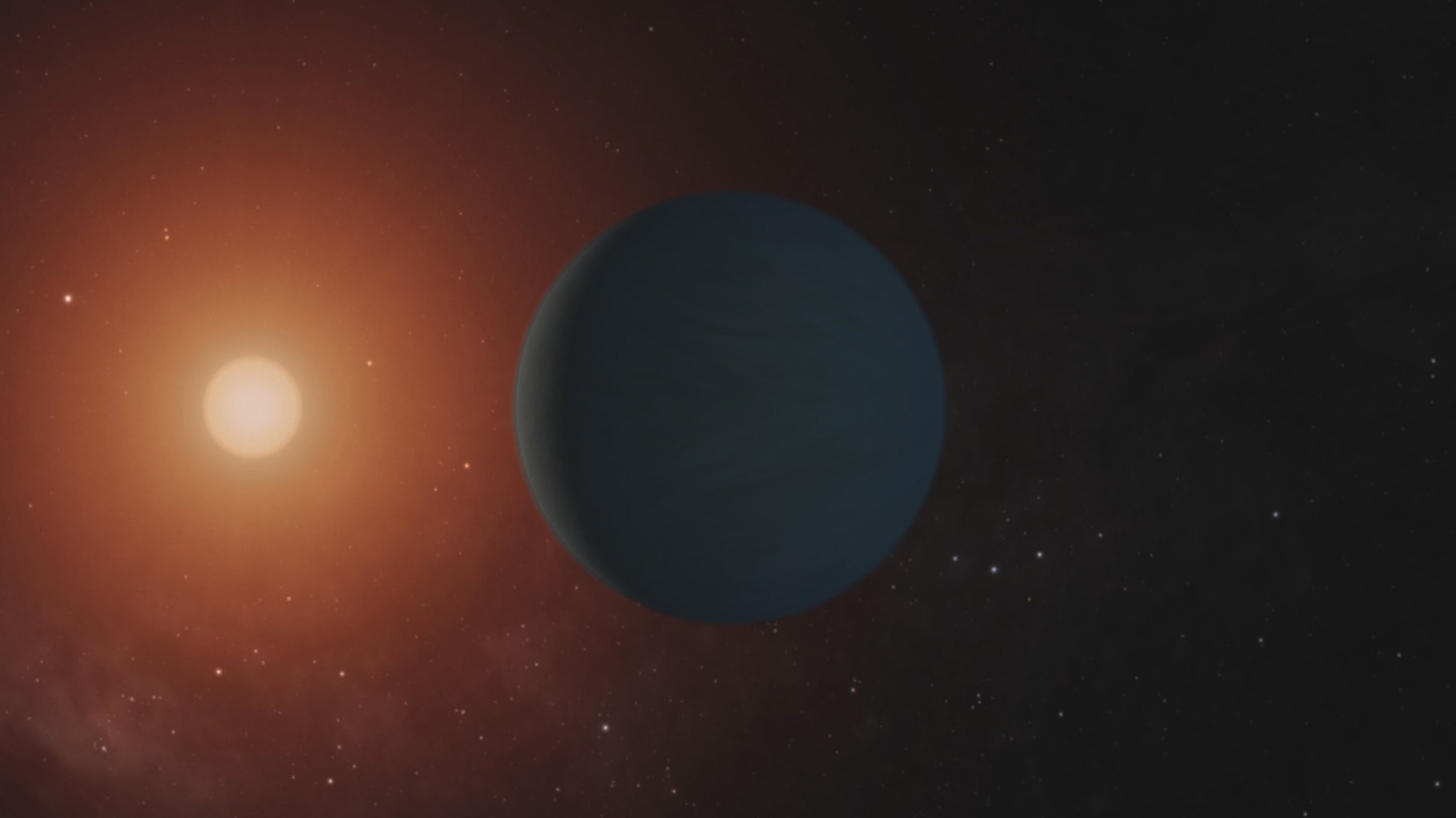 This is a frame from a video which shows illustrations of the seven Earth-size planets of TRAPPIST-1, an exoplanet system about 40 light-years away, based on data current as of February 2018.