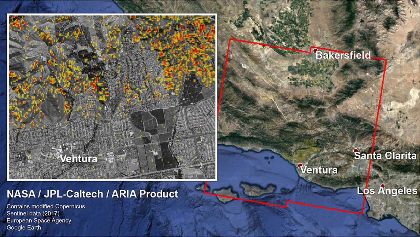 Space Images Nasa Produced Map Shows Extent Of Southern California