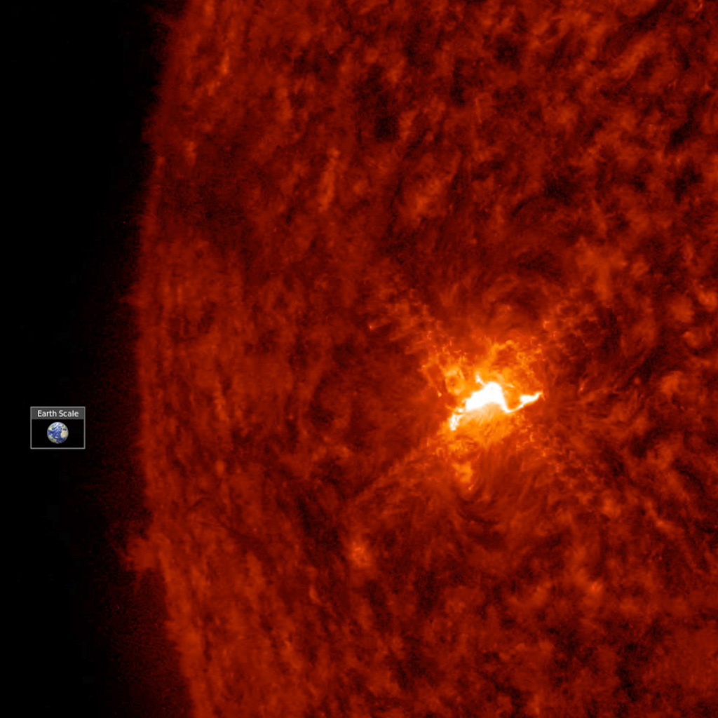NASA's Solar Dynamics Observatory observed the sun's only visible active region as it sputtered and spurted and eventually unleashed a small (C-class) flare on Feb. 7, 2018.