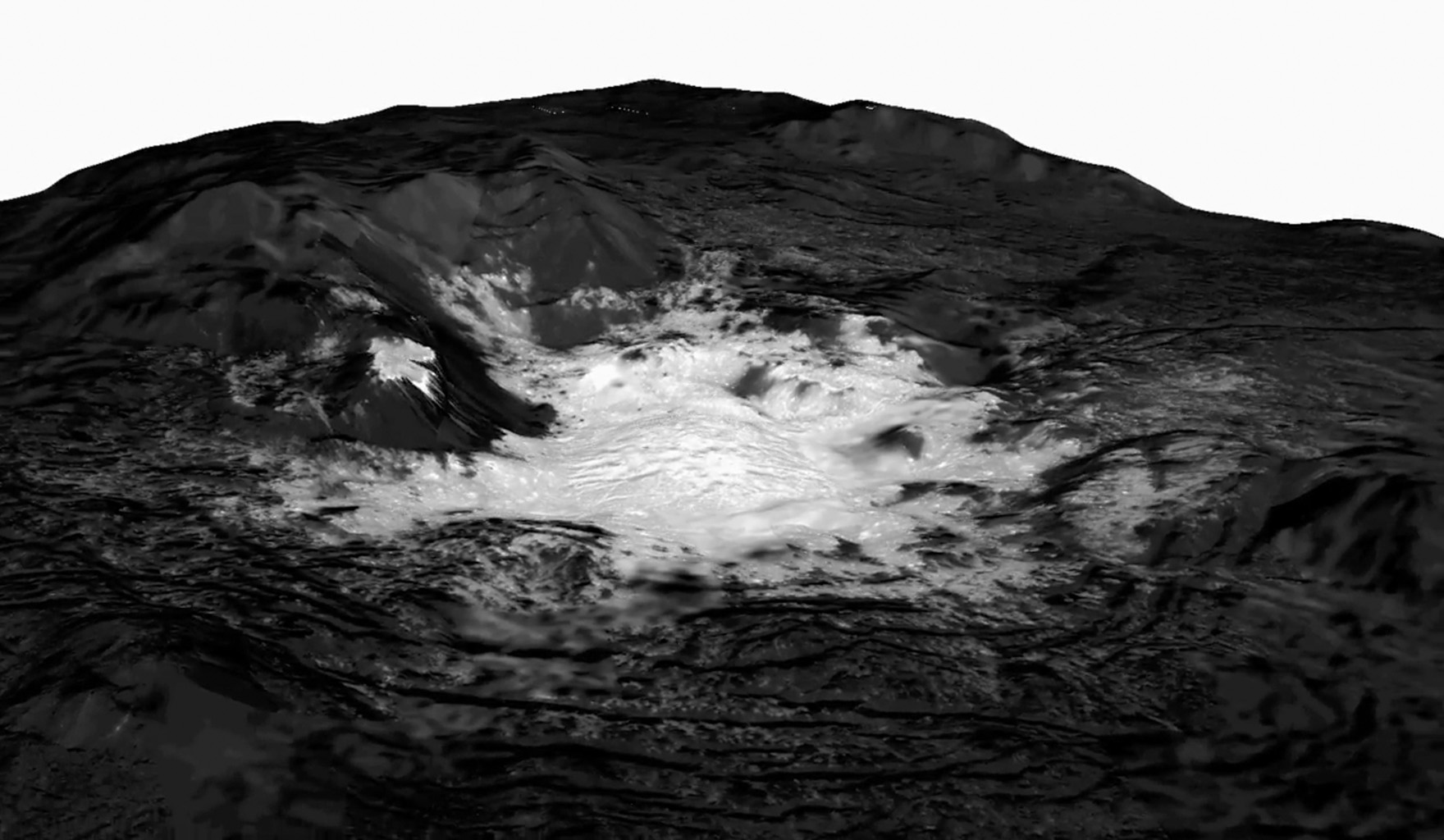 This mosaic from NASA's Dawn spacecraft, of Cerealia Facula combines images obtained from altitudes as low as 22 miles (35 km) above Ceres' surface.