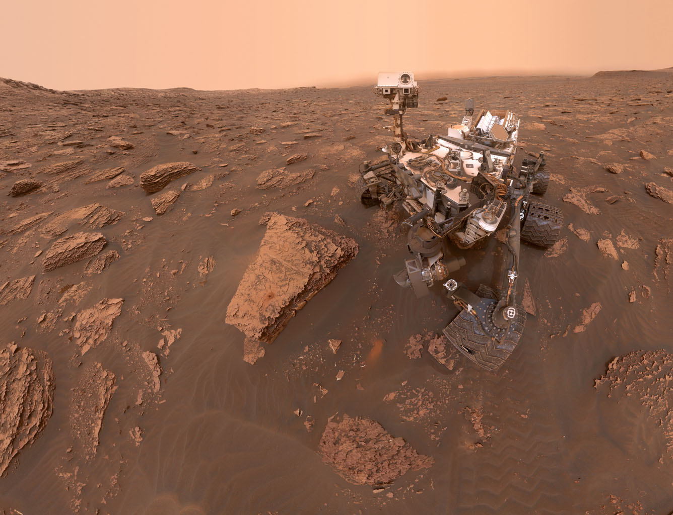 Space Images | Curiosity's Dusty Selfie