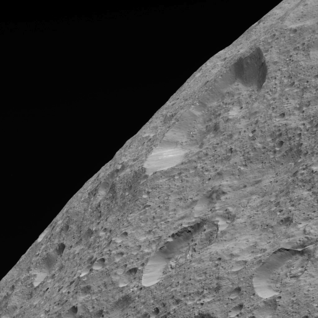 This image of Ceres' limb was obtained by NASA's Dawn spacecraft on May 30, 2018 from an altitude of about 280 miles (450 kilometers).