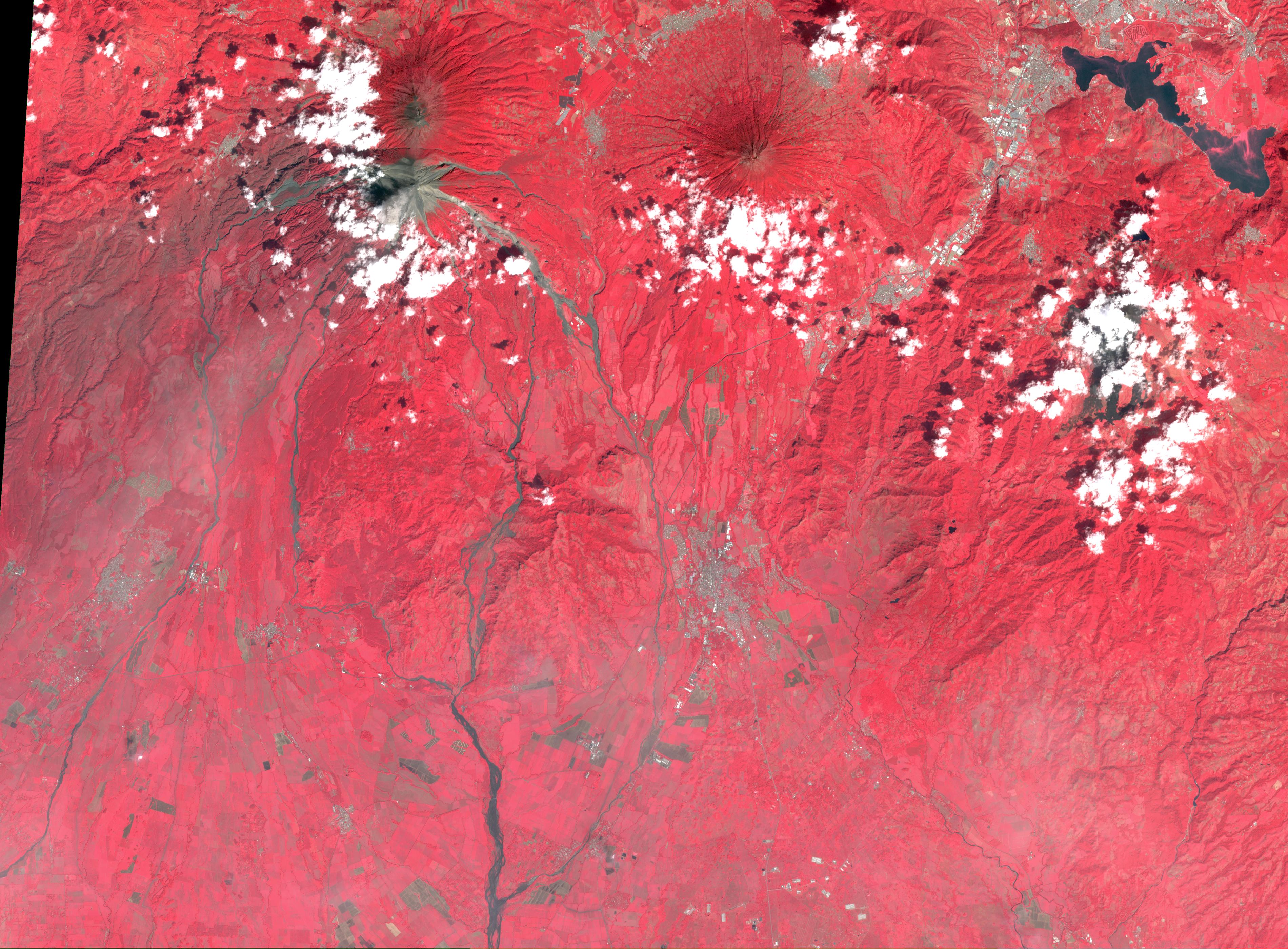 NASA's ASTER Captures Lava Flow, Ash from Guatemala Volcano
