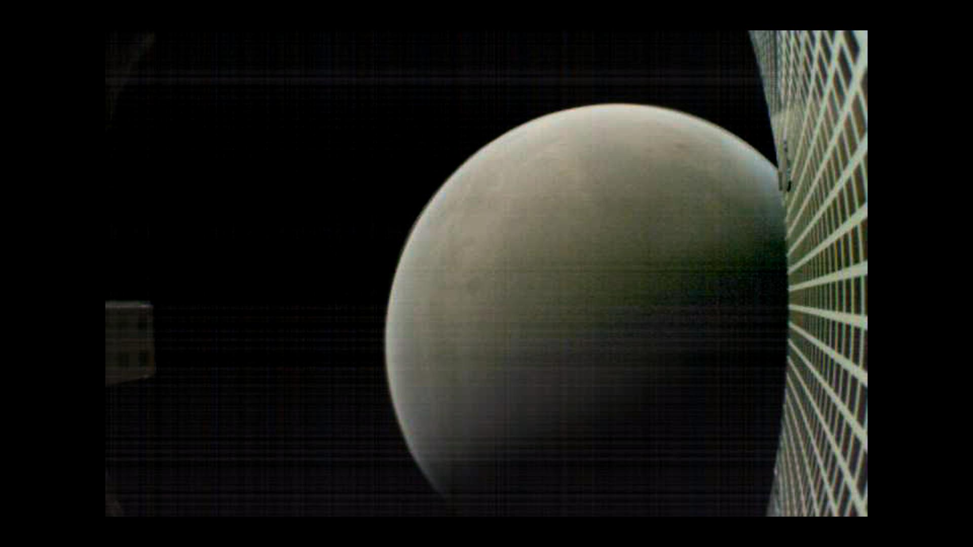 On Nov. 26, 2018, MarCO-B, one of NASAs Mars Cube One (MarCO) CubeSats, took this image of Mars from about 4,700 miles (6,000 kilometers) away during its flyby of the Red Planet.