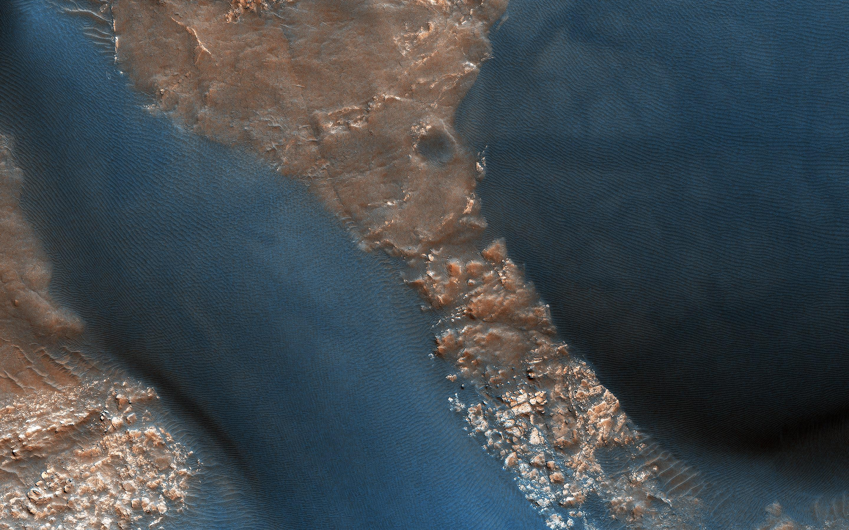Active Dunes in Wirtz Crater