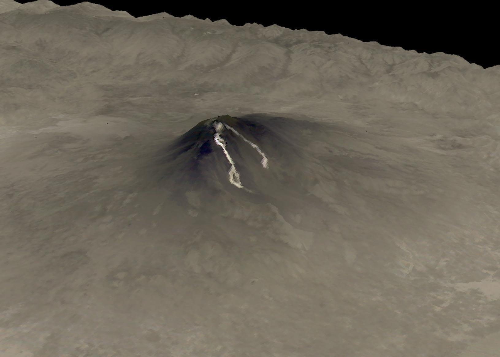 NASAs Terra spacecraft shows new fissure vents opened on the New Southeast Crater of Mt. Etna, Italy, during the most recent eruption which began May 30, 2019.