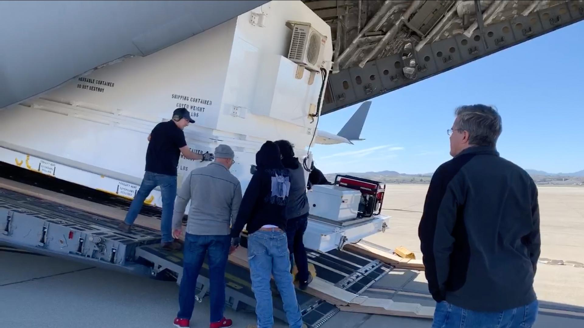 On Feb. 11, 2020, Mars 2020 Assembly, Test and Launch Operations Manager David Gruel watched as members of his team loaded NASAs next Mars rover onto an Air Force C-17 at March Air Reserve Base in Riverside, California.