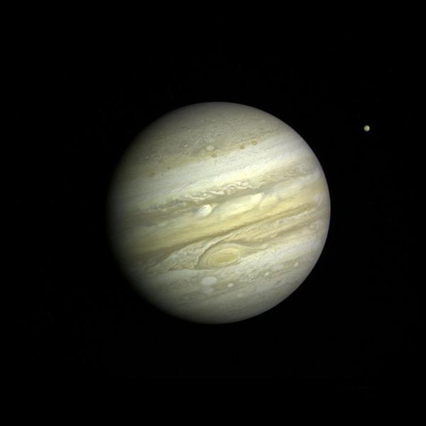 Jupiter With Satellite Io