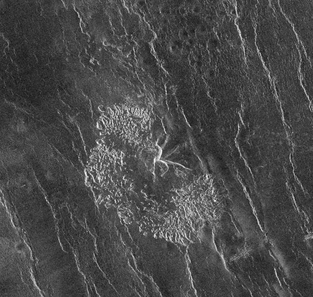 NASA's Magellan spacecraft has observed remnant landslide deposits apparently resulting from the collapse of volcanic structures.