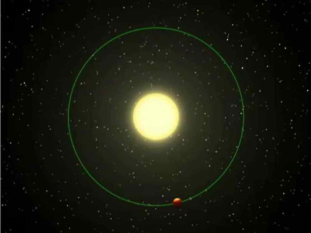 This artist's animation shows a blistering world revolving around its nearby 'sun.' NASA's infrared Spitzer Space Telescope observed a planetary system like this one, as the planet's sunlit and dark hemispheres swung alternately into the telescope's view.