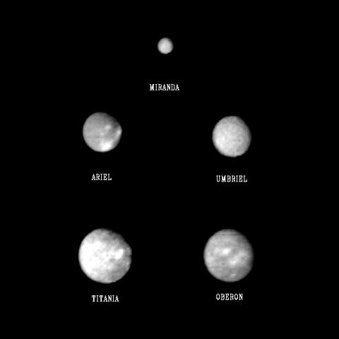 Uranus Five Largest Moons (page 3) - Pics about space