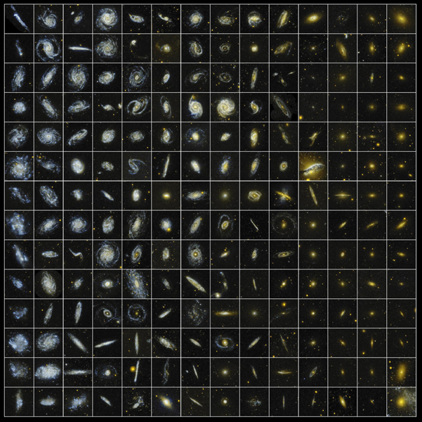 From sparkling blue rings to dazzling golden disks and mined from NASA's Galaxy Evolution Explorer Survey of Nearby Galaxies data, these cosmic gems were collected with the telescope's sensitive ultraviolet instruments.