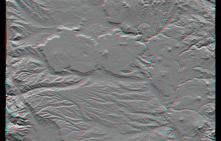 This anaglyph, from NASA's Shuttle Radar Topography Mission, is of the Andes Mountains, southeast of San Carlos de Bariloche, Argentina. 3D glasses are necessary to view this image.
