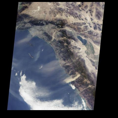Southern California's 'Santa Anas' are dry, north-easterly winds having speeds in excess of 25 knots (46 kilometers/hour). Santa Ana conditions are commonly associated with gusts of more than twice this level.