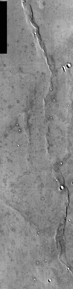 This NASA Mars Odyssey image of NASA's Viking 1 landing site was taken to commemorate the anniversaries of NASA's Apollo 11 landing on the Moon and Viking 1 landing on Mars -- July 20, 1969 and July 20, 1976, respectively.