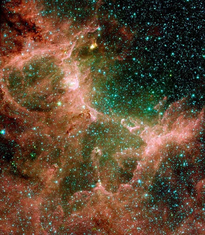 space images eagle nebula flaunts its infrared feathers