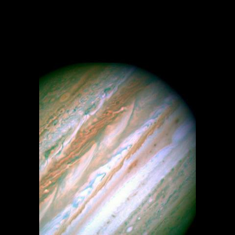 NASA's Hubble Space Telescope shows detailed analysis of two continent-sized storms that erupted in Jupiter's atmosphere in March 2007 shows that Jupiter's internal heat plays a significant role in generating atmospheric disturbances .