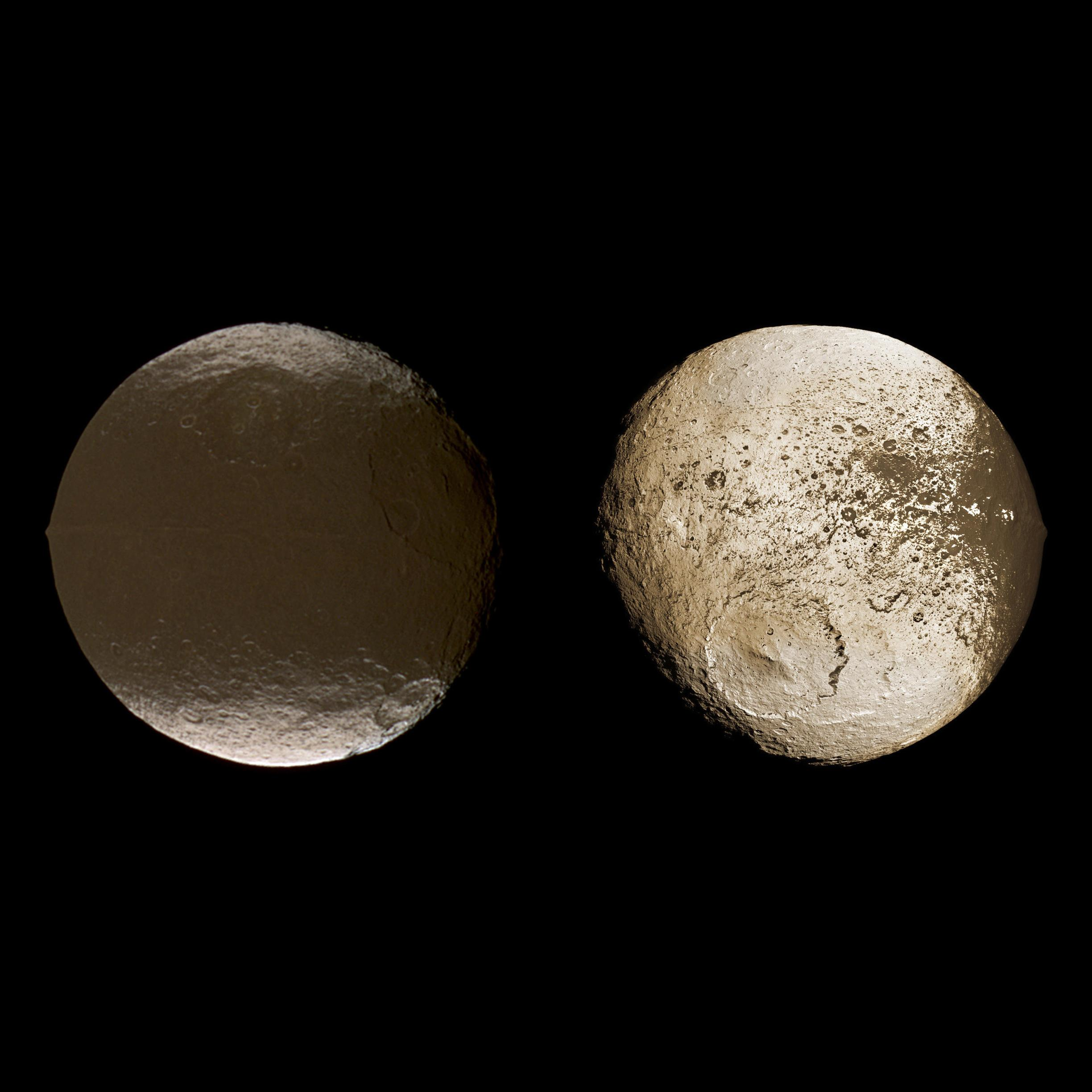 Com: Global View Of Iapetus' Dichotomy