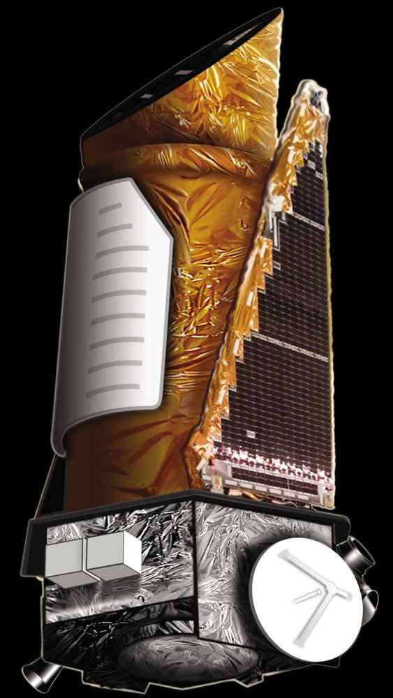 This artist's concept shows NASA's Kepler spacecraft.