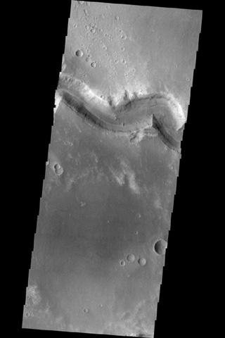 This image shows a small portion of Nirgal Vallis.