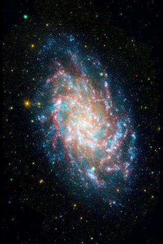 NASA's Galaxy Evolution Explorer Mission celebrates its sixth anniversary studying galaxies beyond our Milky Way through its sensitive ultraviolet telescope, the only such far-ultraviolet detector in space. Pictured here, the galaxy NGC598 known as M33.