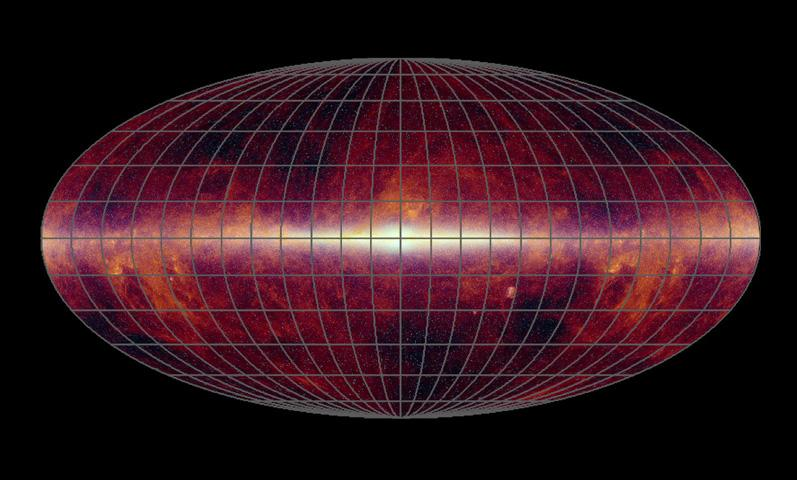 This image is an all-sky infrared map consisting of data taken by previous missions: the Infrared Astronomical Satellite; NASA's Cosmic Background Explorer; and the Two-Micron All-Sky Survey.