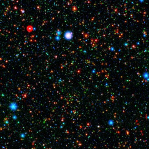 Astronomers have found that stars are forming more rapidly in the center of a distant galaxy cluster than at its edges, which is completely reversed from galaxy clusters seen in the local universe.
