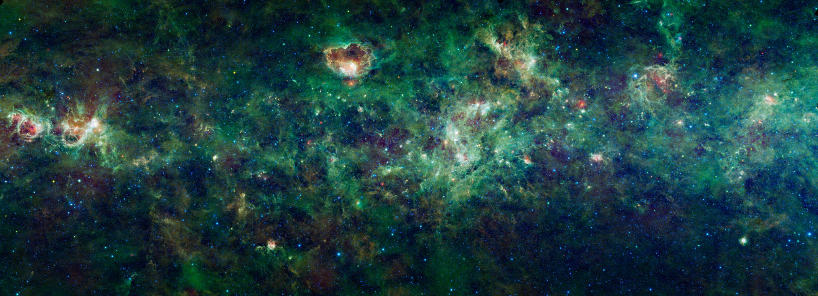 This enormous section of the Milky Way galaxy is a mosaic of images from NASA's Wide-field Infrared Survey Explorer. The constellations Cassiopeia and Cepheus are featured in this 1,000-square degree expanse.