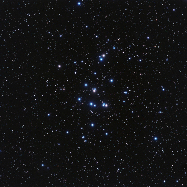 This image of the Beehive star cluster points out the location of its first known planets, Pr0201b and Pr0211b, or, as astronomers call them, the first 'b's' in the Beehive.