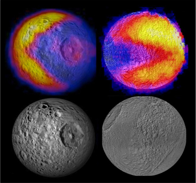 "Scientists with NASA's Cassini mission have spotted two features shaped like the 1980s video game icon ""Pac-Man"" on moons of Saturn. One was observed on the moon Mimas in 2010 and the latest was observed on the moon Tethys."