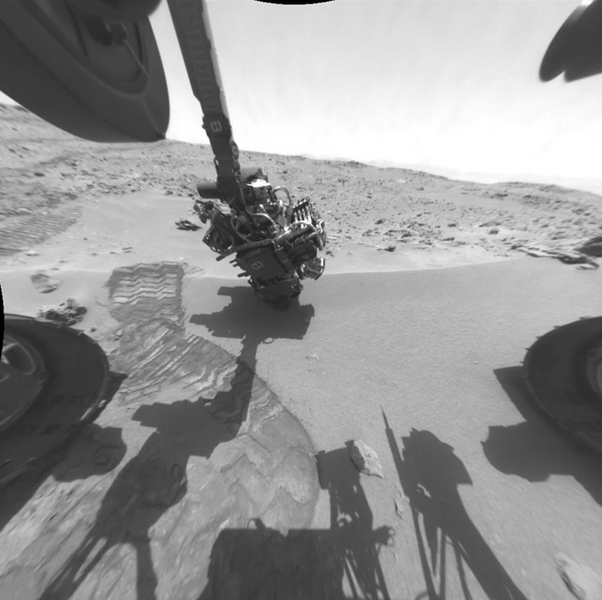 Here is a rover's eye view of driving, scooping and drilling during Curiosity's first year on Mars, August 2012 through July 2013 taken by NASA's Mars rover's Navigation Camera (Navcam).
