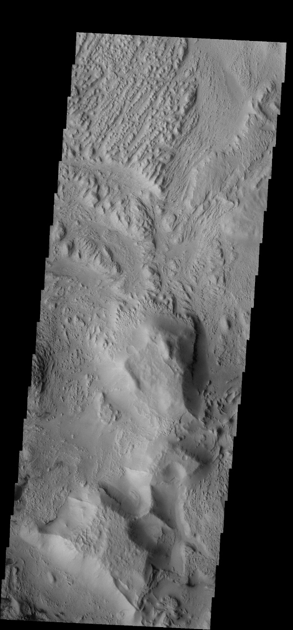 The wind is responsible for the erosion seen in this image captured by NASA's 2001 Mars Odyssey spacecraft near Aeolis Planum.