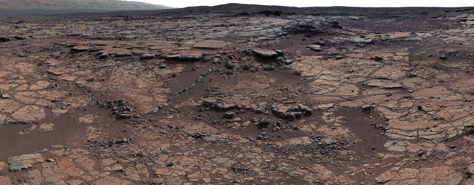 This mosaic of images from NASA's Curiosity shows geological members of the Yellowknife Bay formation, and the sites where Curiosity drilled into the lowest-lying member, called Sheepbed, at targets 'John Klein' and 'Cumberland'.