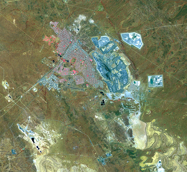 This image acquired by NASA's Terra spacecraft is of Kalgoorlie-Boulder, a city in the Goldfields-Esperance region of Western Australia.