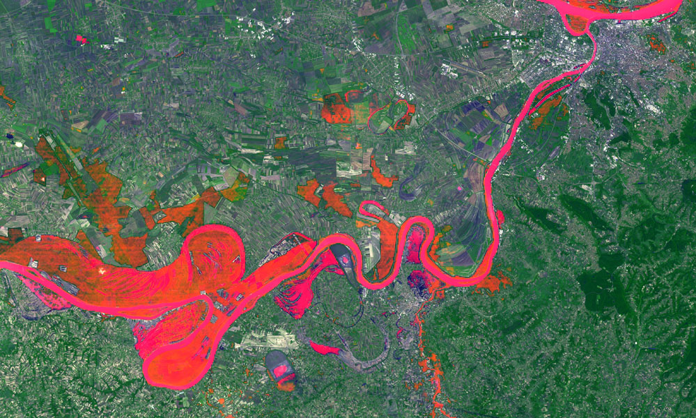 In May 2014, historic floods inundated Serbia and neighboring countries, causing major population displacements and property destruction. This image was acquired by NASA's Terra spacecraft.