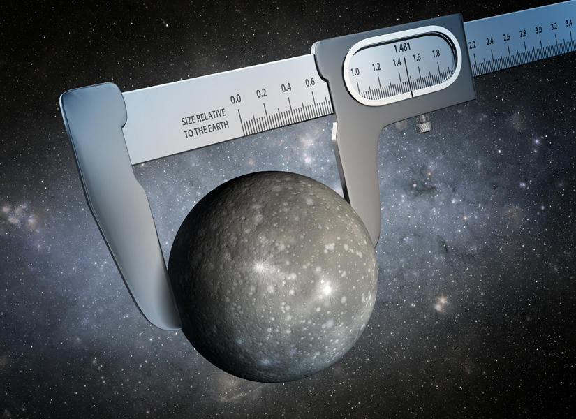 Using data from NASA's Kepler and Spitzer Space Telescopes, scientists have made the most precise measurement ever of the size of a world outside our solar system, as illustrated in this artist's conception.