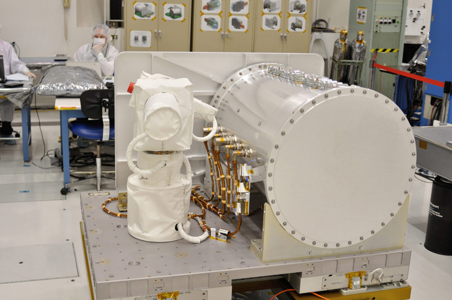 Optical PAyload for Lasercomm Science (OPALS) flight terminal undergoes final testing at NASA's Jet Propulsion Laboratory. OPALS was launched to the International Space Station from Cape Canaveral Air Force Station in Florida on April 18, 2014.