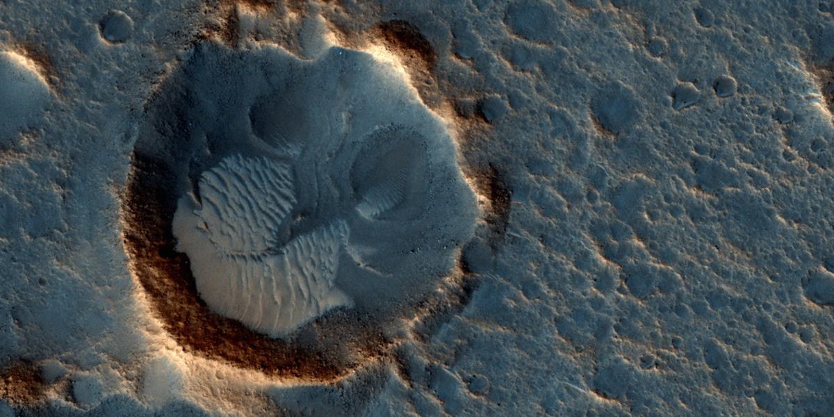 Krateret hvor the Martian filmen foregår