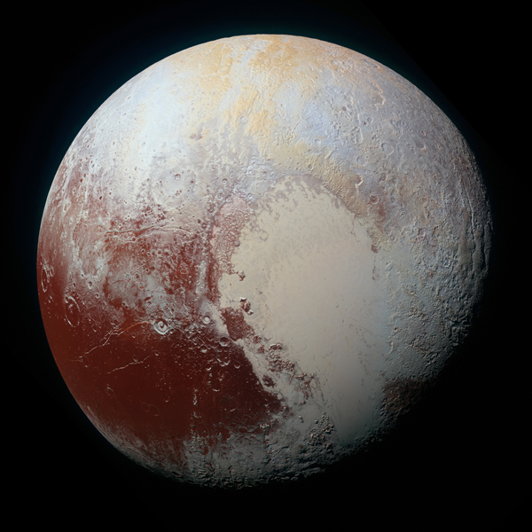 NASAs New Horizons Spacecraft Captured This High Resolution Enhanced Color View Of Pluto On July