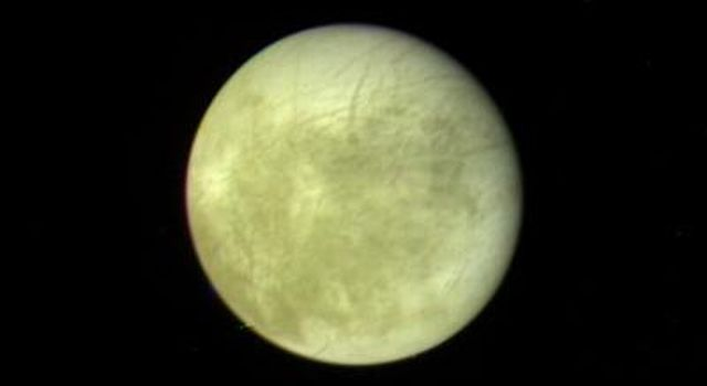 This picture of Europa, the smallest Galilean satellite, was taken in the afternoon of March 4, 1979, from a distance of about 2 million kilometers (1.2 million miles) by NASA's Voyager 1.
