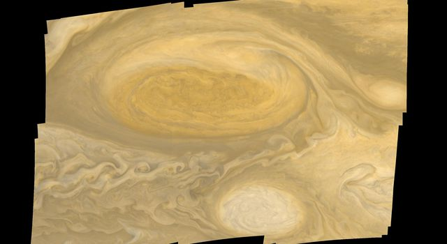 This photo of Jupiter's Great Red Spot was taken by NASA's Voyager 1 in early March 1979.