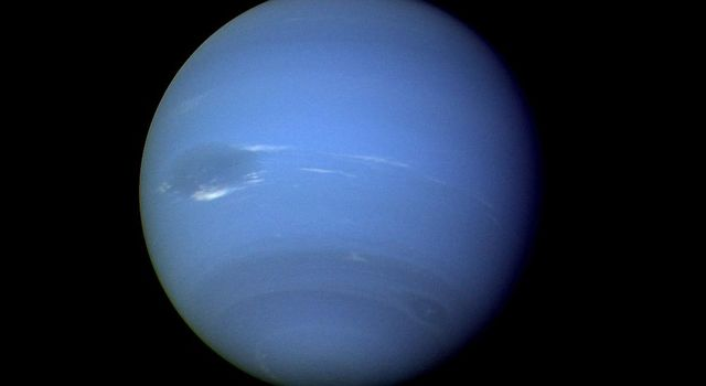 During August 16 and 17, 1989, the Voyager 2 narrow-angle camera was used to photograph Neptune almost continuously, recording approximately two and one-half rotations of the planet..