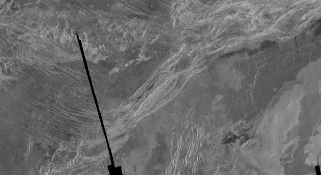 This is a full resolution radar mosaic of the Lavinia region of Venus as seen by NASA's Magellan spacecraft. This area shows a diverse set of geologic features.