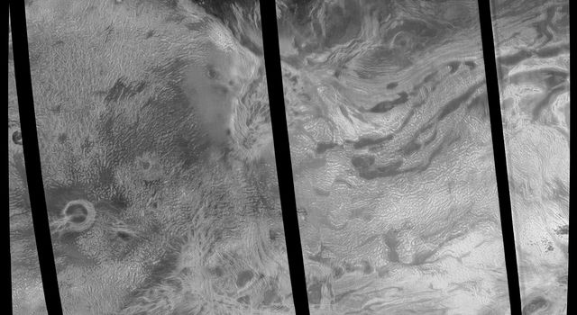 This image covers much of Ovda Regio, which forms the western part of Aphrodite Terra captured by NASA's Magellan spacecraft.